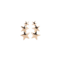 Triple Star Clip On Earrings