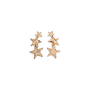 Authentic Pre Owned Kenneth Jay Lane Triple Star Clip On Earrings (PSS-626-00007) - Thumbnail 1