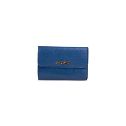 Authentic Pre Owned Miu Miu Madras Aviazione Wallet (PSS-626-00012)
