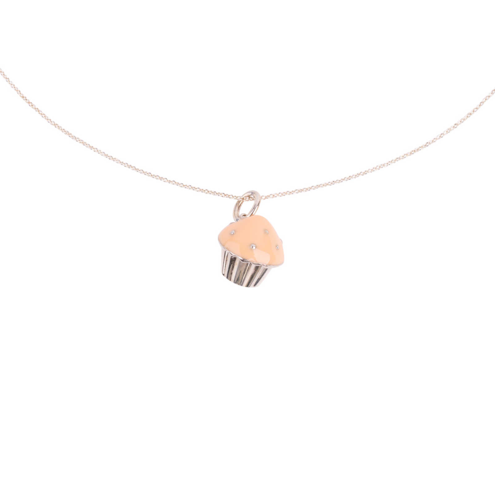 80b6c35d4 Authentic Second Hand Tiffany & Co Cupcake Pendant Necklace (PSS-626-00015)  ...