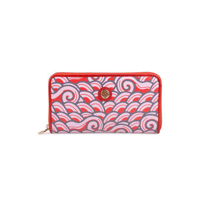 Authentic Second Hand Shanghai Tang Long Zip Around Wallet (PSS-626-00018)