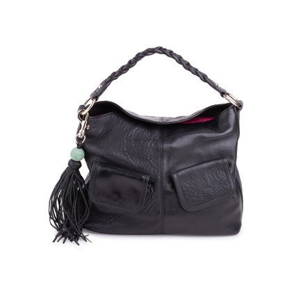 Authentic Second Hand Shanghai Tang Leather Braided Shoulder Bag (PSS-626-00019)