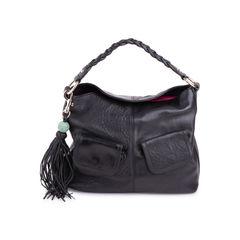 Leather Braided Shoulder Bag