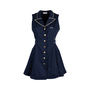 Authentic Pre Owned Roccobarocco Embroidered Denim Dress (PSS-626-00029) - Thumbnail 0