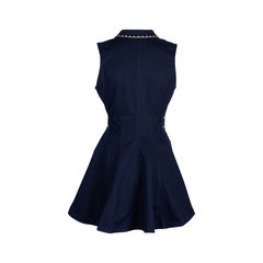 Roccobarocco embroidered denim dress 2?1552538415