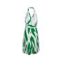 Authentic Pre Owned Diane Von Furstenberg Printed Halter Wrap Dress (PSS-626-00027) - Thumbnail 1