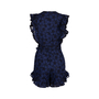 Authentic Second Hand Rebecca Taylor Adriana Eyelet Ruffle Romper (PSS-424-00144) - Thumbnail 1