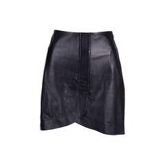 Lambskin Mini Skirt