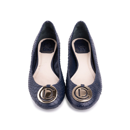 Authentic Second Hand Christian Dior Snakeskin Flats (PSS-521-00021)