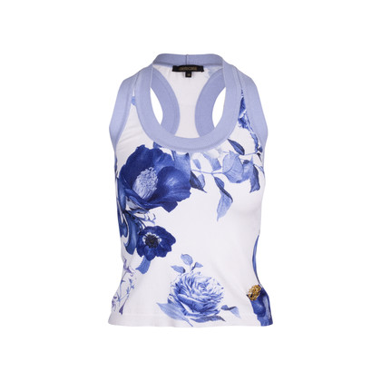 Authentic Second Hand Roberto Cavalli Floral Knit Top (PSS-521-00012)