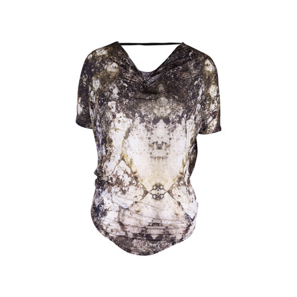 Authentic Second Hand Helmut Lang Draped Printed Top (PSS-521-00017)