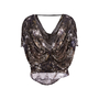 Authentic Second Hand Helmut Lang Draped Printed Top (PSS-521-00017) - Thumbnail 1