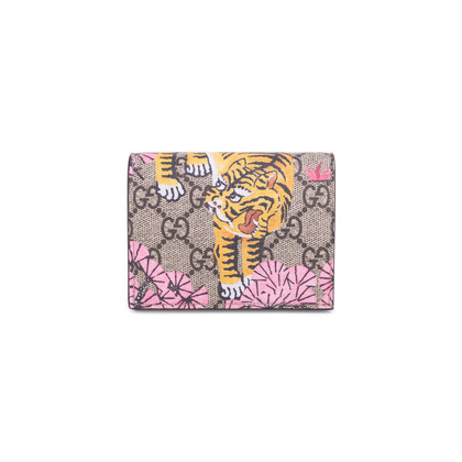 Authentic Second Hand Gucci Bengal Tiger GG Supreme Compact Wallet (PSS-627-00004)