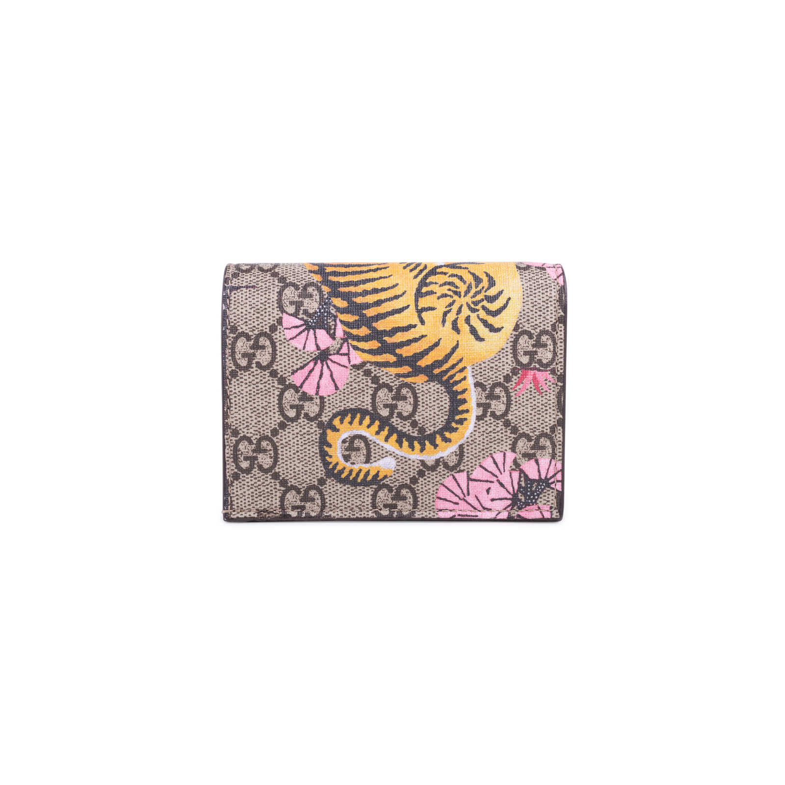 6c45358b94b8 ... Authentic Second Hand Gucci Bengal Tiger GG Supreme Compact Wallet  (PSS-627-00004 ...