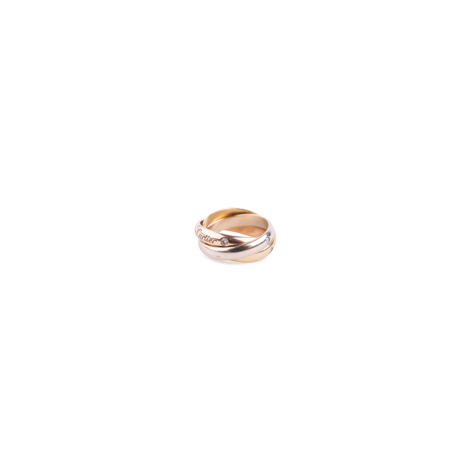7fd2a91b1c339 Authentic Second Hand Cartier Diamond Trinity Ring (PSS-638-00002 ...