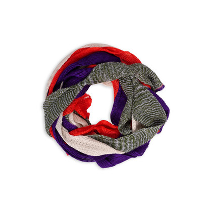 Authentic Second Hand Missoni Knit Strip Skinny Scarf (PSS-247-00122)