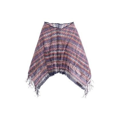 Authentic Second Hand Missoni Fringed Poncho (PSS-247-00127)