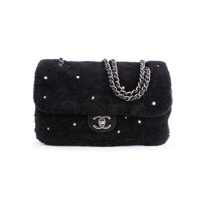 Authentic Second Hand Chanel Shearling Pearl Flap Bag (PSS-034-00041)
