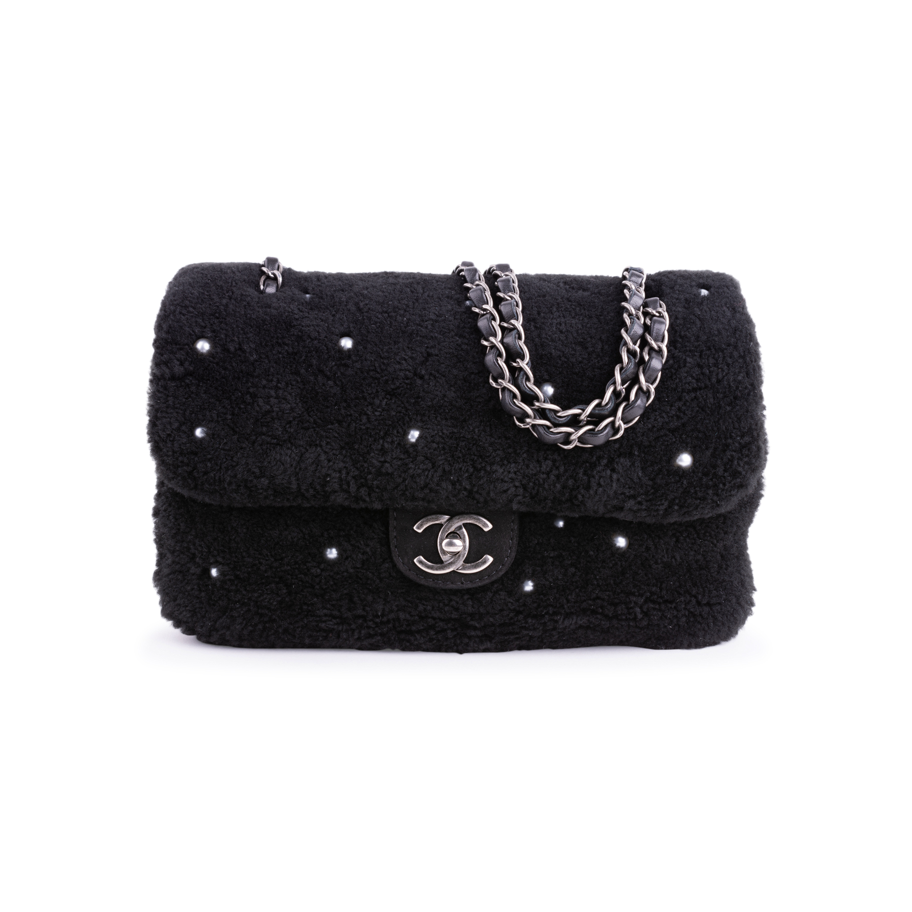 31122aacfb81f8 Authentic Second Hand Chanel Shearling Pearl Flap Bag (PSS-034-00041) | THE  FIFTH COLLECTION