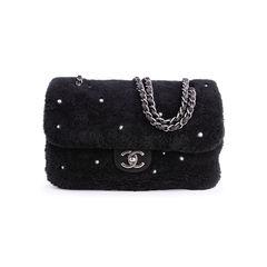 Shearling Pearl Flap Bag