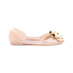 Salvatore ferragamo barbados bow jelly flats neutral 4?1552969882