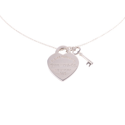 68eeeb72477 Authentic Second Hand Tiffany   Co Heart Tag With Key Pendant (PSS-637-