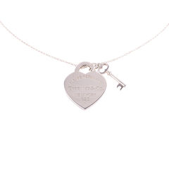 Heart Tag With Key Pendant