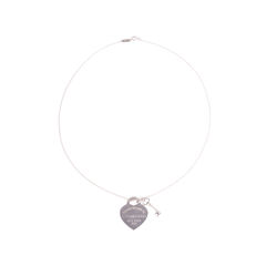 Tiffany co heart tag with key pendant 2?1552970465