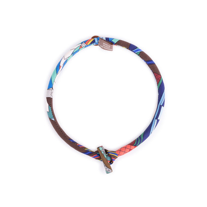 Authentic Second Hand Hermès Silk Petit H Necklace (PSS-637-00006)