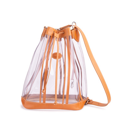 Authentic Second Hand Longchamp Drawstring Bucket Bag (PSS-637-00013)
