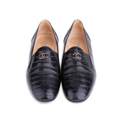 Crocodile Embossed Loafers