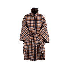 Wool Checked Cape