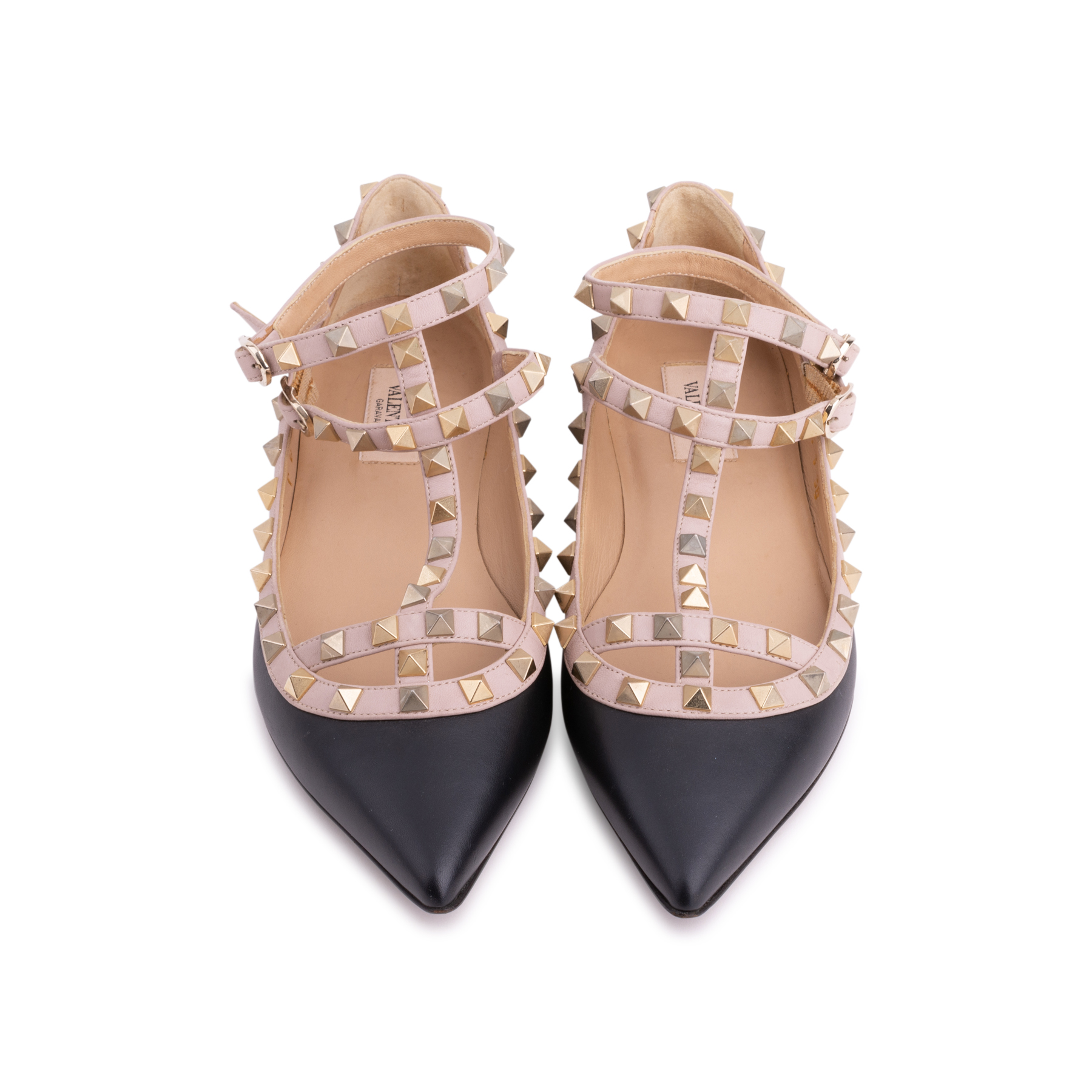 477ae0f3972d Authentic Second Hand Valentino Rockstud Caged Flats (PSS-340-00105 ...