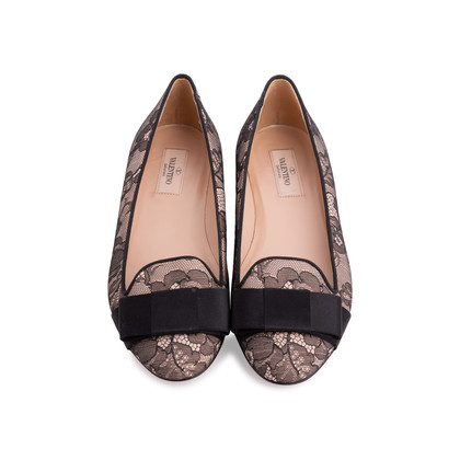 Authentic Second Hand Valentino Lace Slip Ons (PSS-340-00106)