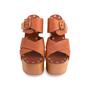 Authentic Second Hand Céline Platform Wooden Sandals (PSS-606-00027) - Thumbnail 0