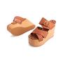 Authentic Second Hand Céline Platform Wooden Sandals (PSS-606-00027) - Thumbnail 1