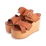 Authentic Second Hand Céline Platform Wooden Sandals (PSS-606-00027) - Thumbnail 3