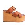 Authentic Second Hand Céline Platform Wooden Sandals (PSS-606-00027) - Thumbnail 4