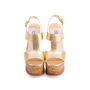 Authentic Second Hand Prada Wicker Wedge Sandals (PSS-606-00029) - Thumbnail 0