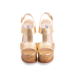 Wicker Wedge Sandals