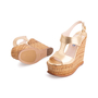 Authentic Second Hand Prada Wicker Wedge Sandals (PSS-606-00029) - Thumbnail 1