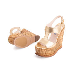 Prada wicker wedge sandals metallic 2?1553149322