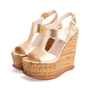Authentic Second Hand Prada Wicker Wedge Sandals (PSS-606-00029) - Thumbnail 3