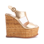 Authentic Second Hand Prada Wicker Wedge Sandals (PSS-606-00029) - Thumbnail 4
