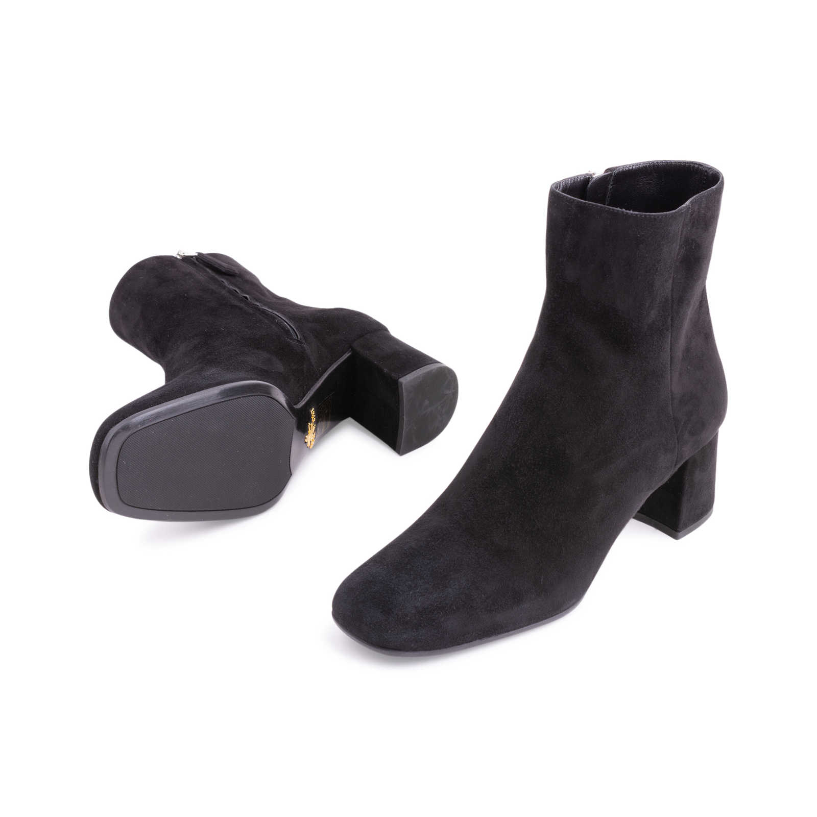 ea218a288a1a60 ... Authentic Second Hand Prada Suede Ankle Boots (PSS-606-00032) -  Thumbnail ...
