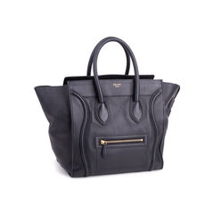 Celine mini luggage tote black 2?1553231257