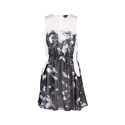 Authentic Second Hand Theory Sheer Printed Dress (PSS-340-00137)