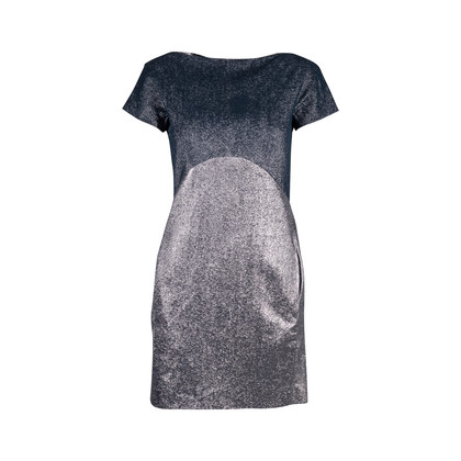Authentic Second Hand Victoria Beckham Fall 2010 Metallic Shift Dress (PSS-606-00045)