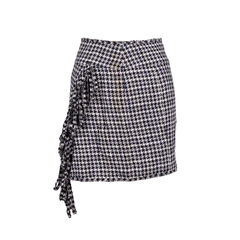 Houndstooth Fringe Skirt