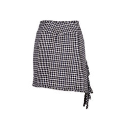 Chanel houndstooth fringe skirt 2?1553499724